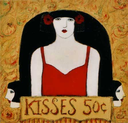 """Kisses Fifty Cents #VII"" by artist Cynthia Markert"